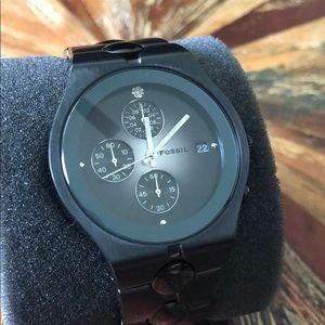 Fossil Black / Zirconia Watch